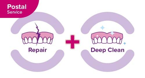 denture medics repair and clean image